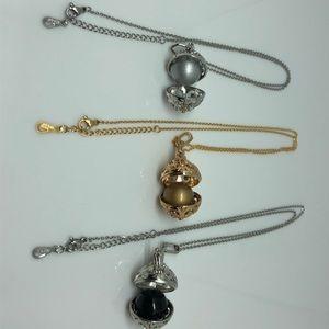 Jewelry - 18kGPChain.316L Locket/Aromatherapy/Bell Interchan